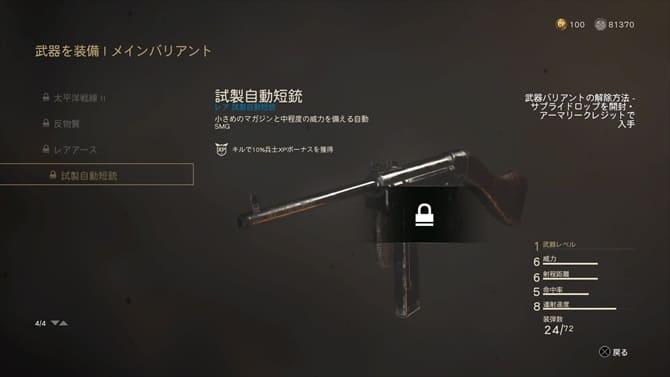 試製自動短銃